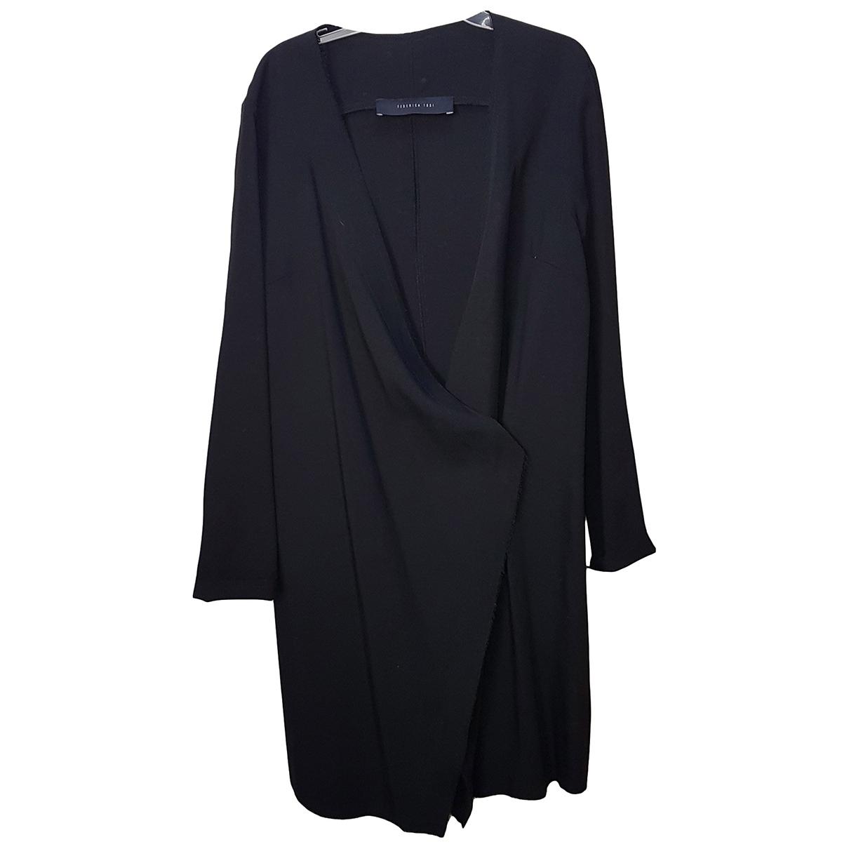 Federica Tosi \N Black Wool coat for Women 42 IT