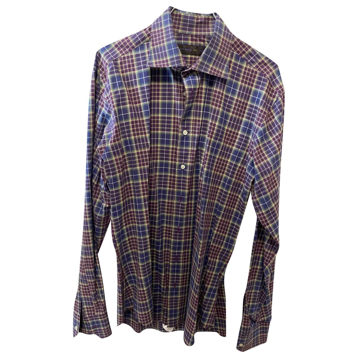Etro - Chemises   pour homme en coton - bordeaux