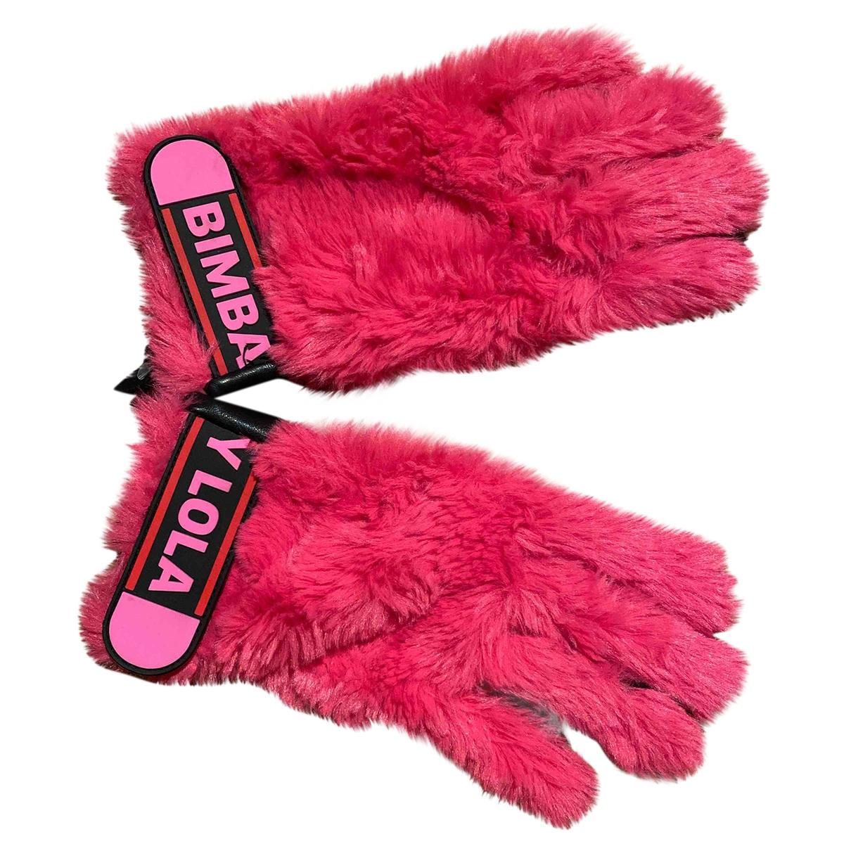 Bimba Y Lola \N Handschuhe in  Rosa Schaf
