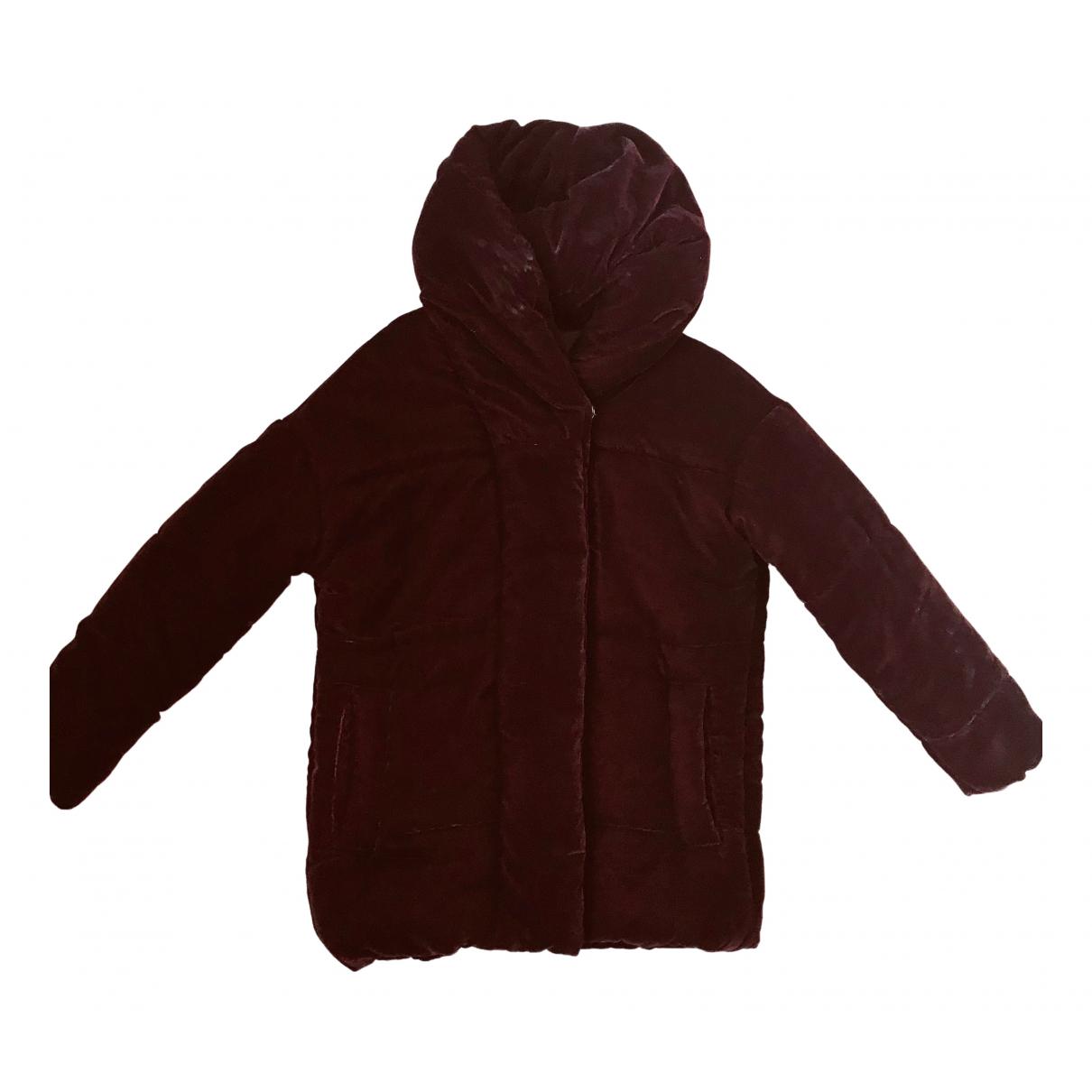 Bel Air - Manteau   pour femme en velours - bordeaux
