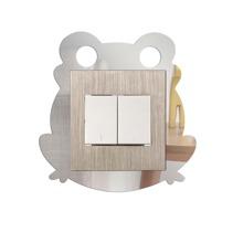 4pcs Frog Shaped Switch Wall Sticker