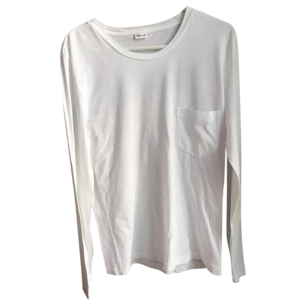 Filippa K - Tee shirts   pour homme en coton - blanc