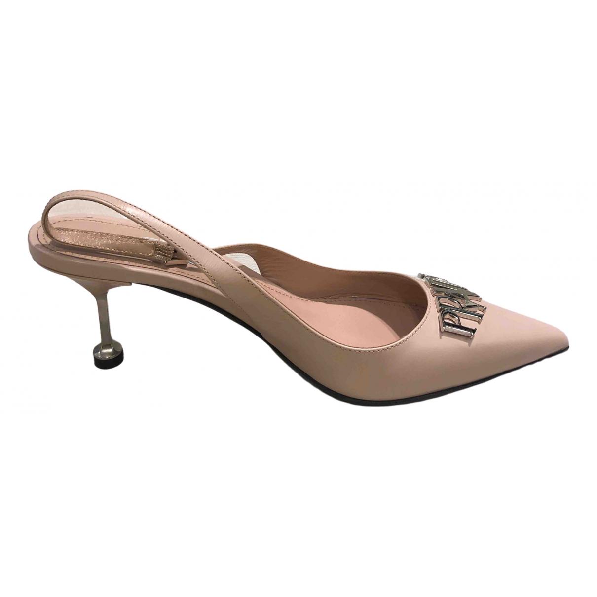 Prada \N Pink Leather Espadrilles for Women 38 EU