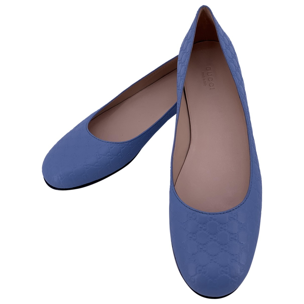 Gucci \N Ballerinas in  Blau Leder