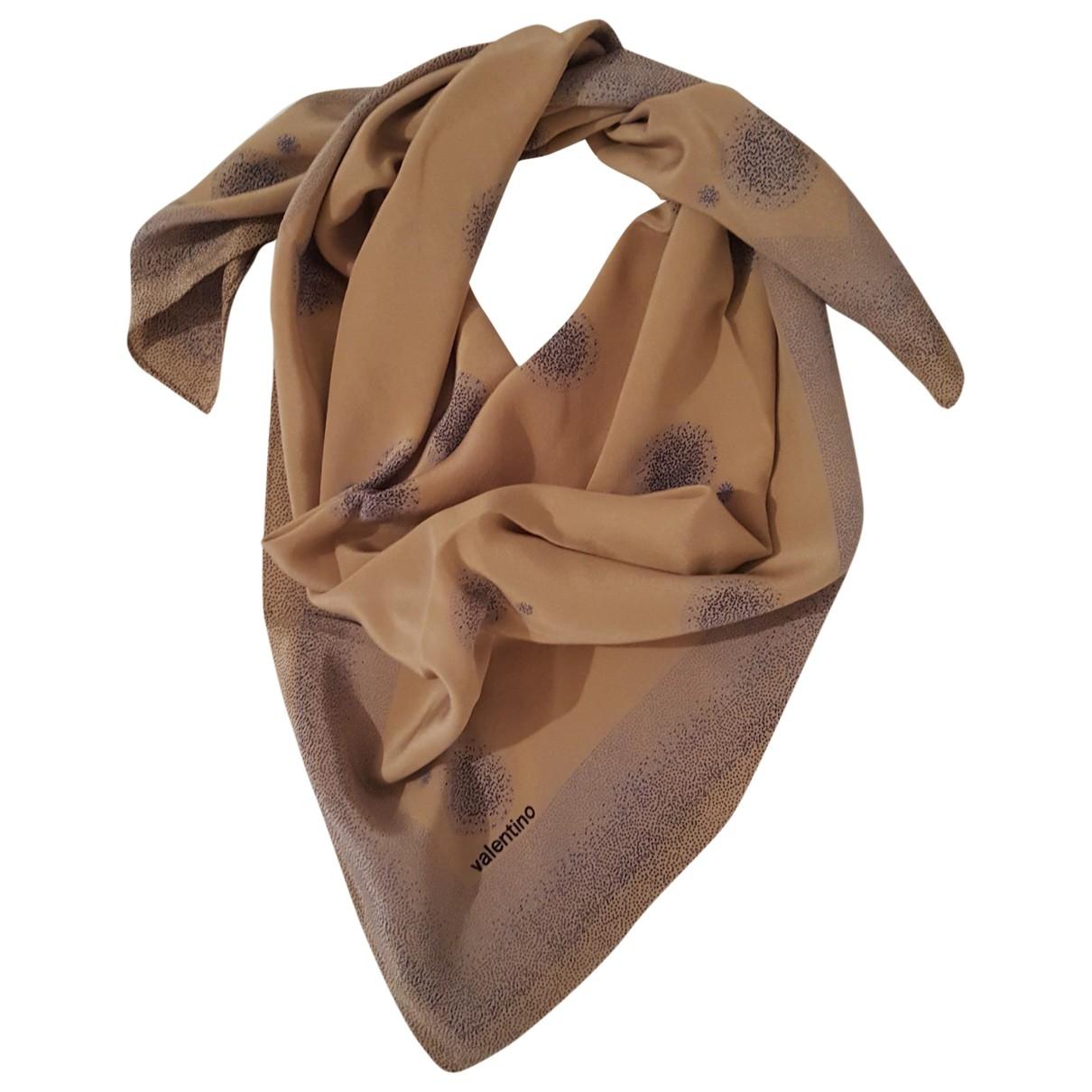 Valentino Garavani \N Beige Silk scarf for Women \N