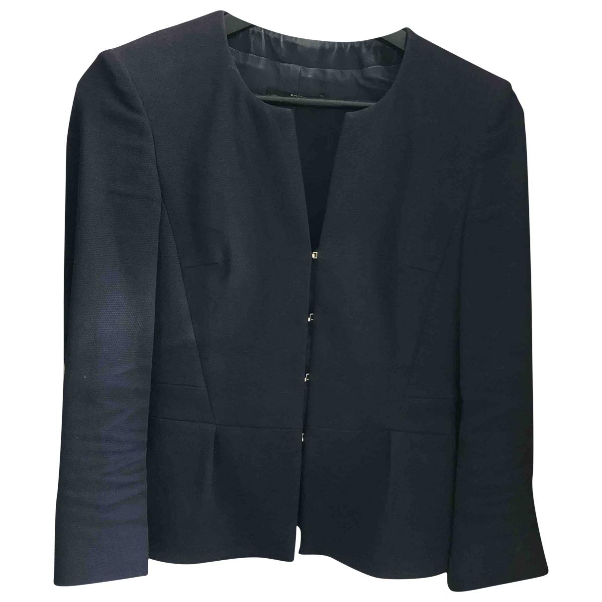 Boss - Veste   pour femme en coton - bleu