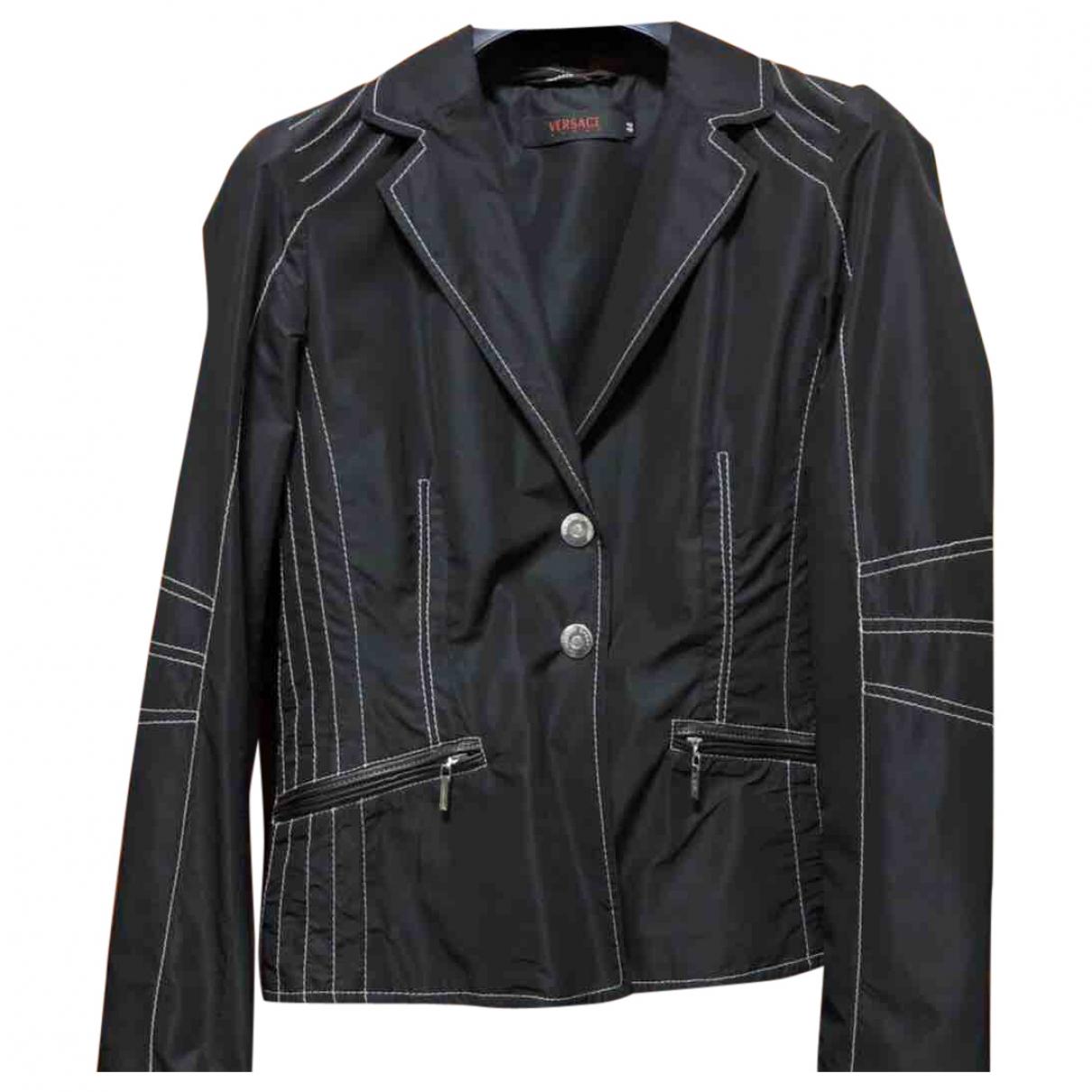 Versace Jeans \N Black jacket for Women 44 IT