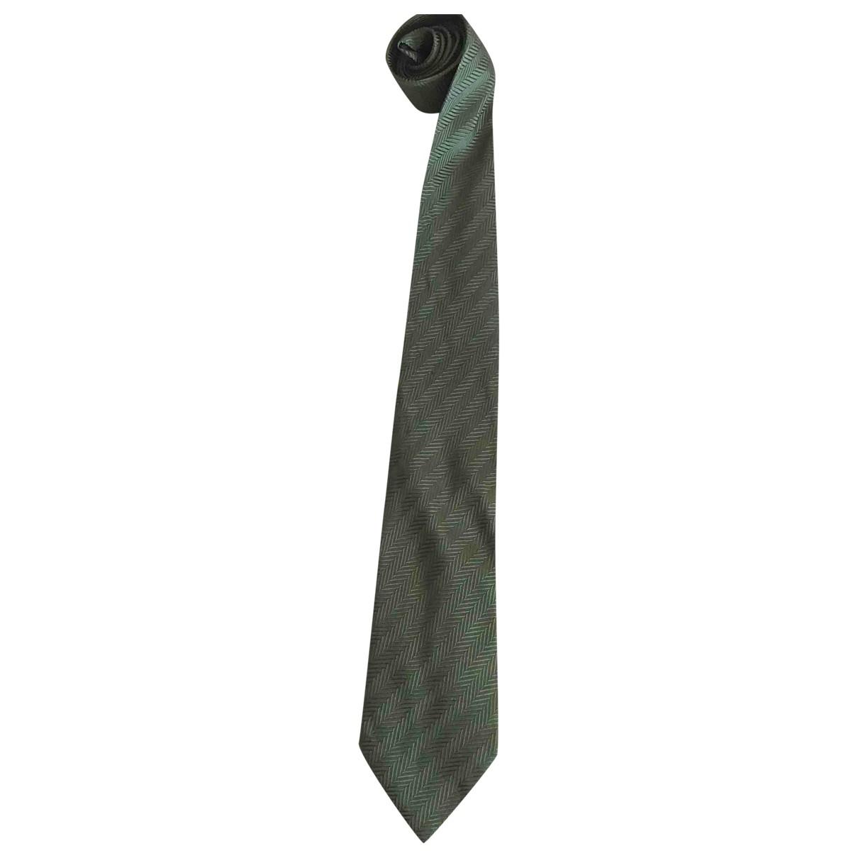 Lanvin \N Krawatten in  Gruen Seide