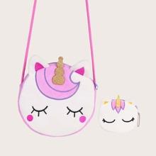 2pcs Cartoon Unicorn Design Bag Set