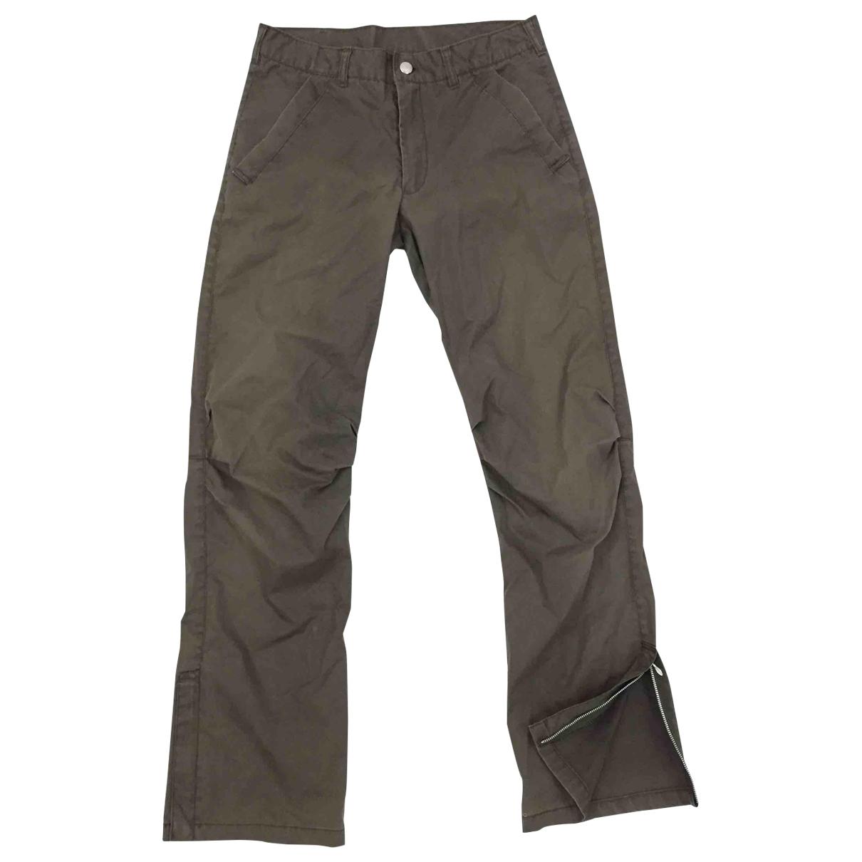 Pantalones en Algodon Marron Katharine Hamnett