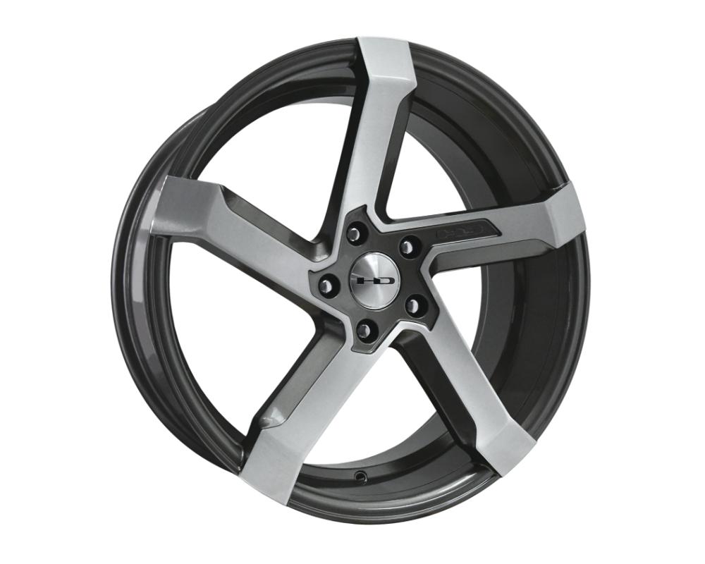 HD Kink Wheel 20x8.5 5x114.3 35mm Gunmetal w Hand Brushed Face