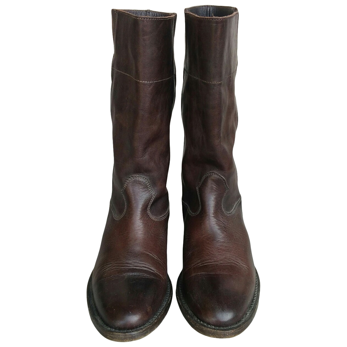 Mauro Grifoni \N Brown Leather Boots for Women 37 EU