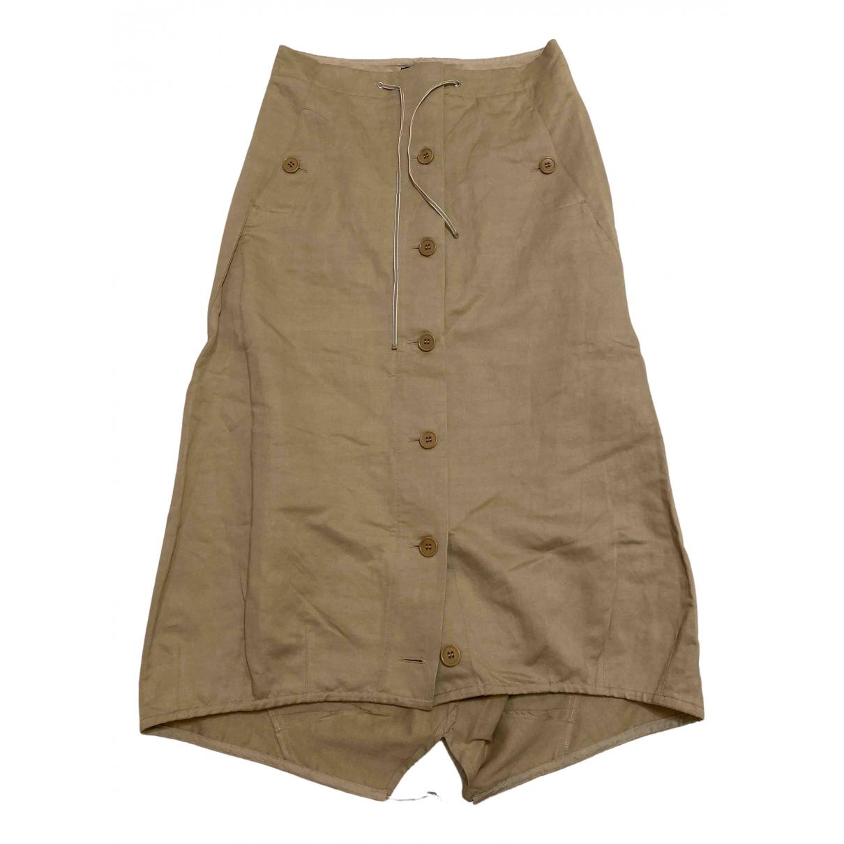 Max Mara s - Jupe   pour femme en coton - beige
