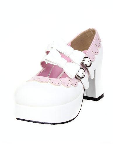 Milanoo Zapatos de lolita de multicolor con lazo