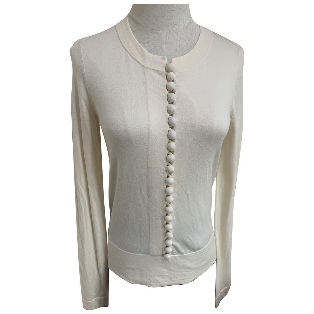 Chloe - Pull   pour femme en laine - blanc