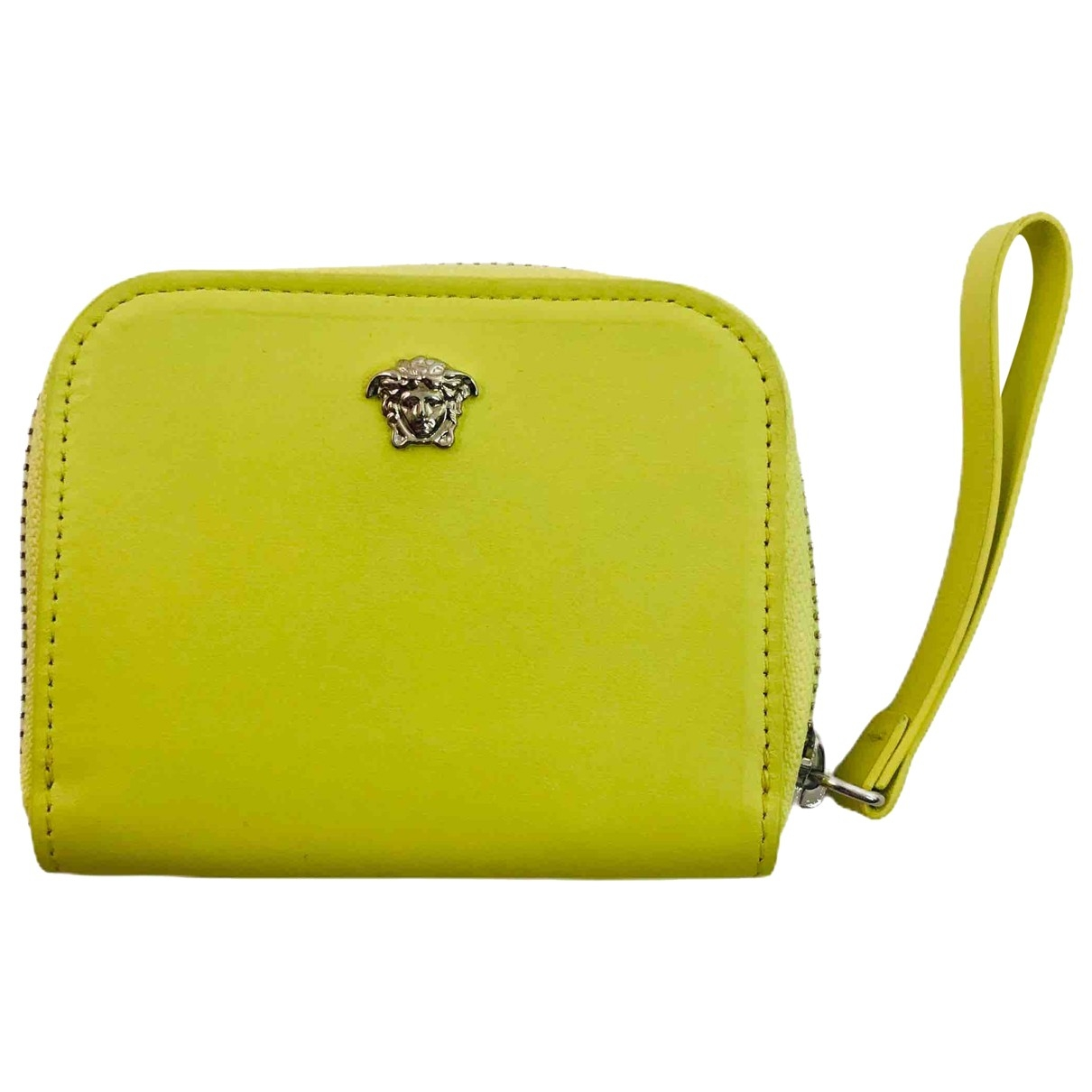Versace \N Kleinlederwaren in  Gelb Leder