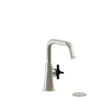 Momenti MMSQS01+PNBK Single Hole Lavatory Faucet with + Cross Handle 1.5 GPM  in Polished