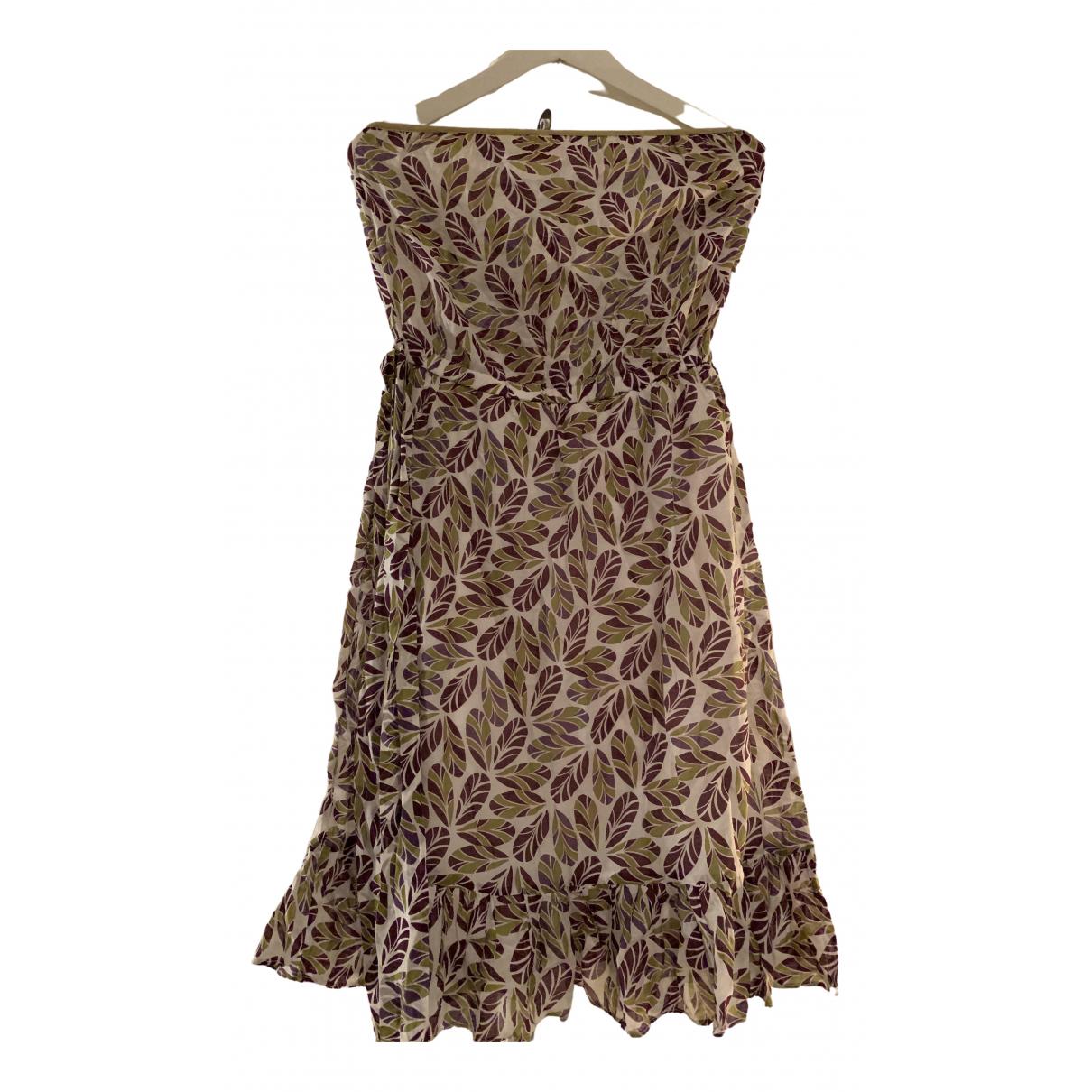 Maje \N Kleid in  Bunt Baumwolle