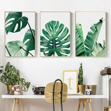 3pcs Plant Print Wall Painting Without Frame