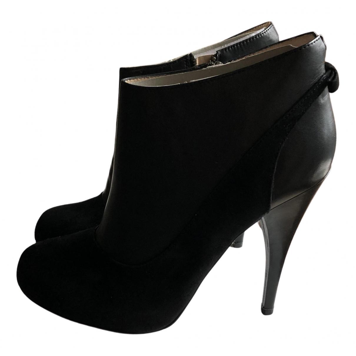 Esprit \N Stiefel in  Schwarz Leder