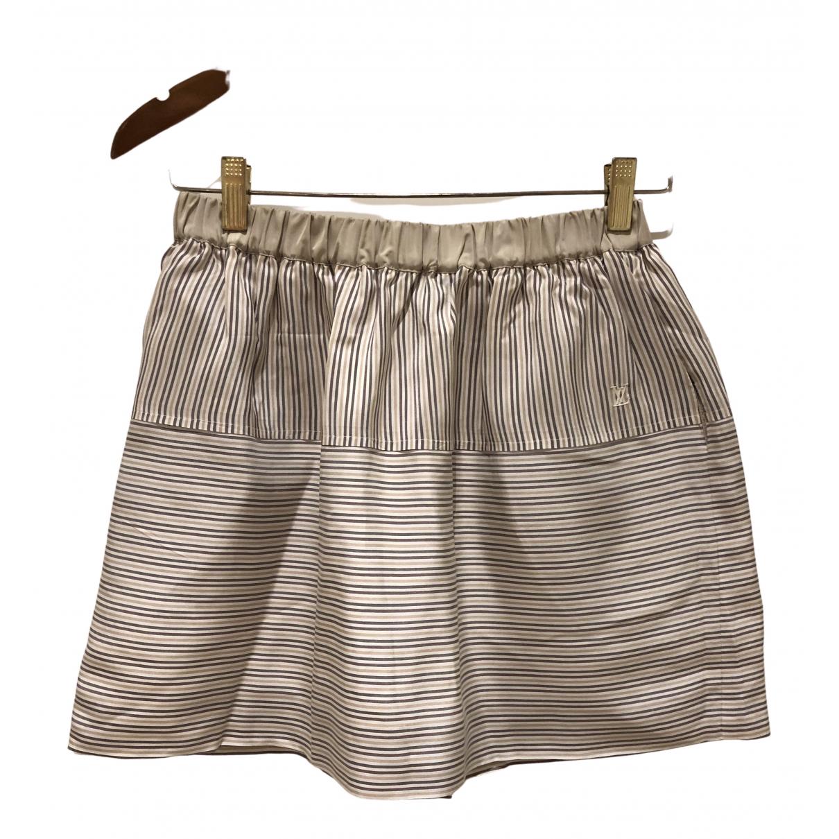 Louis Vuitton N Beige Silk skirt for Women 38 FR