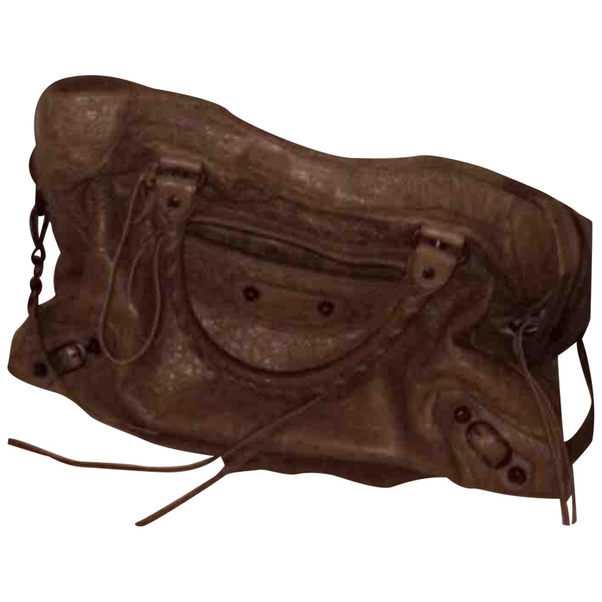 Balenciaga City Handtasche in  Braun Leder