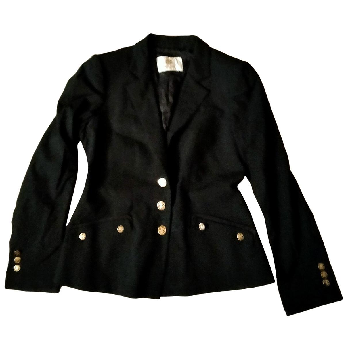 Roberto Cavalli \N Black Wool jacket for Women 46 FR
