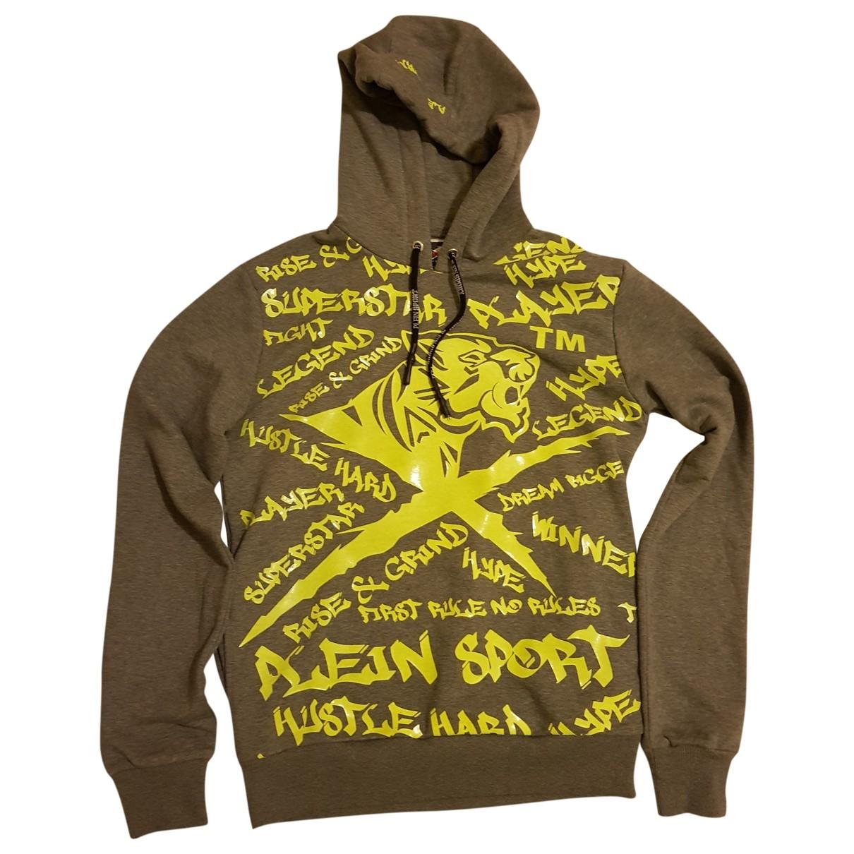 Philipp Plein \N Pullover.Westen.Sweatshirts  in  Grau Baumwolle