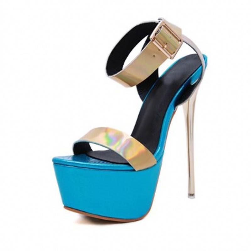 Ericdress Buckle Open Toe Stiletto Heel Platform Sandals