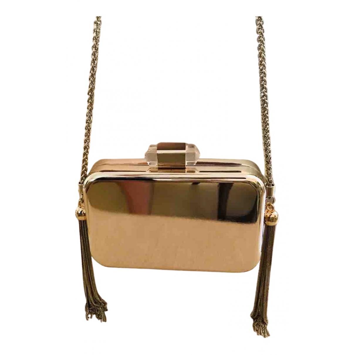 Zara \N Clutch in  Gold Metall
