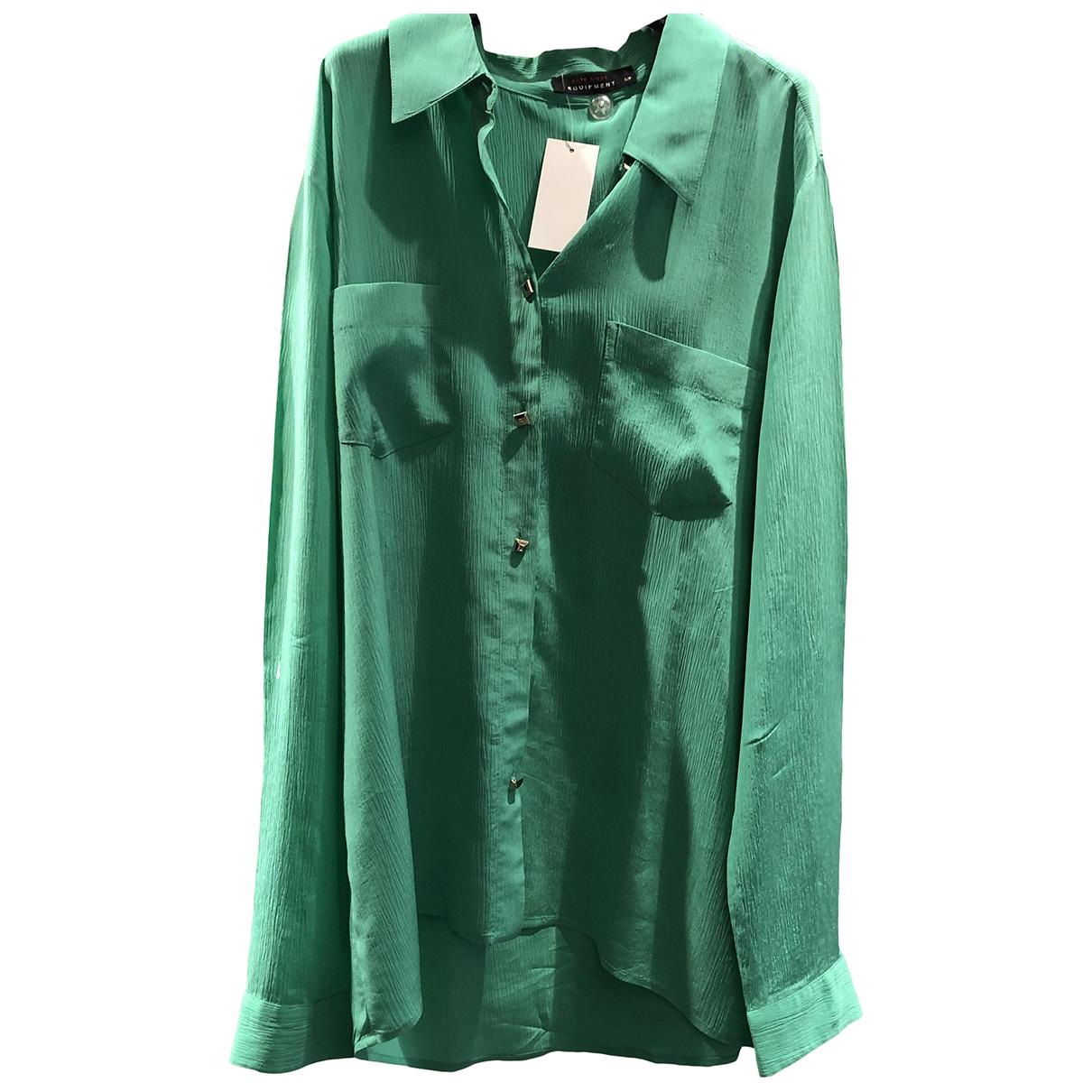 Equipment N Green Silk  top for Women S International
