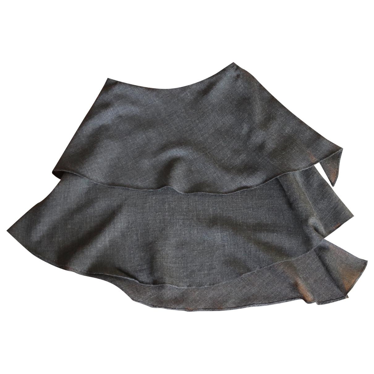 Alberta Ferretti - Jupe   pour femme en laine - gris