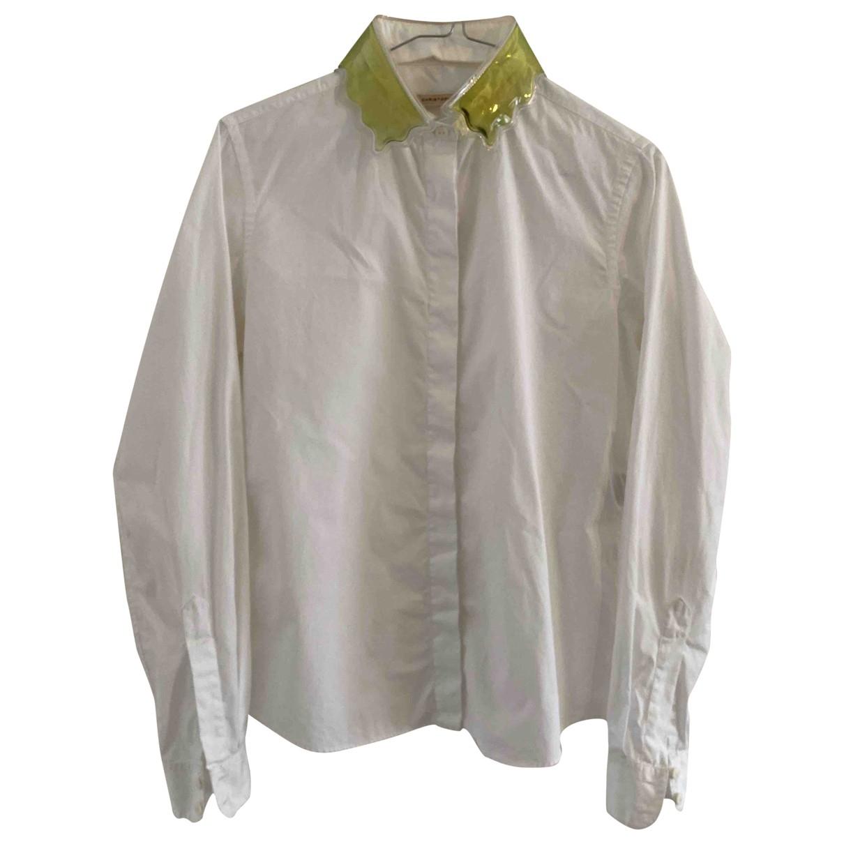 Christopher Kane - Top   pour femme en coton - blanc