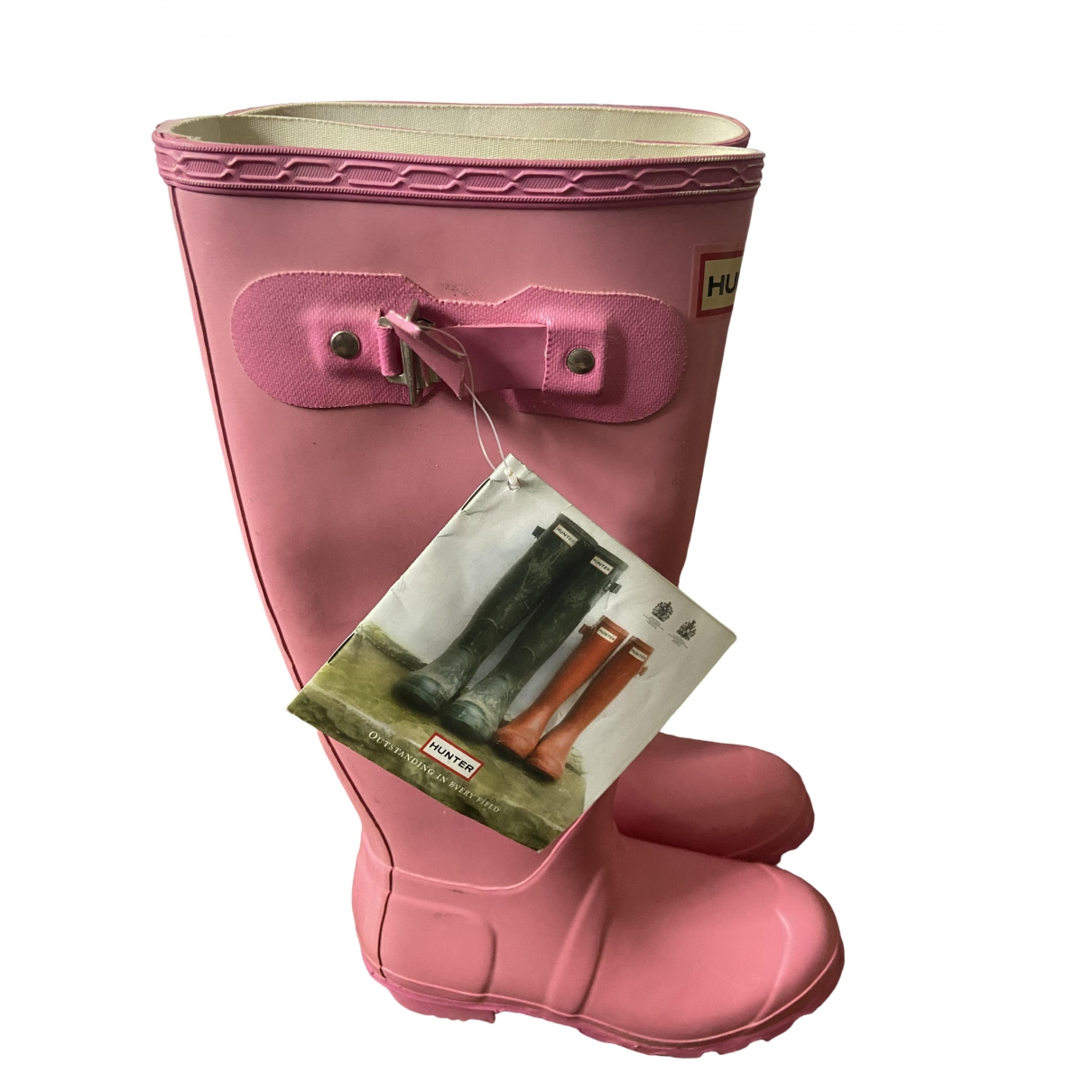 Hunter \N Pink Rubber Boots for Women 3 UK