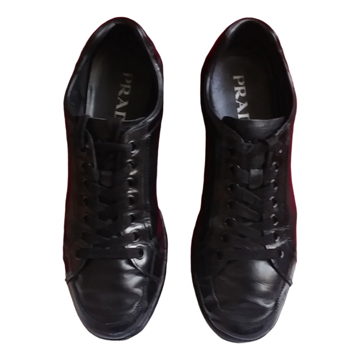 Prada \N Black Leather Trainers for Men 6 UK