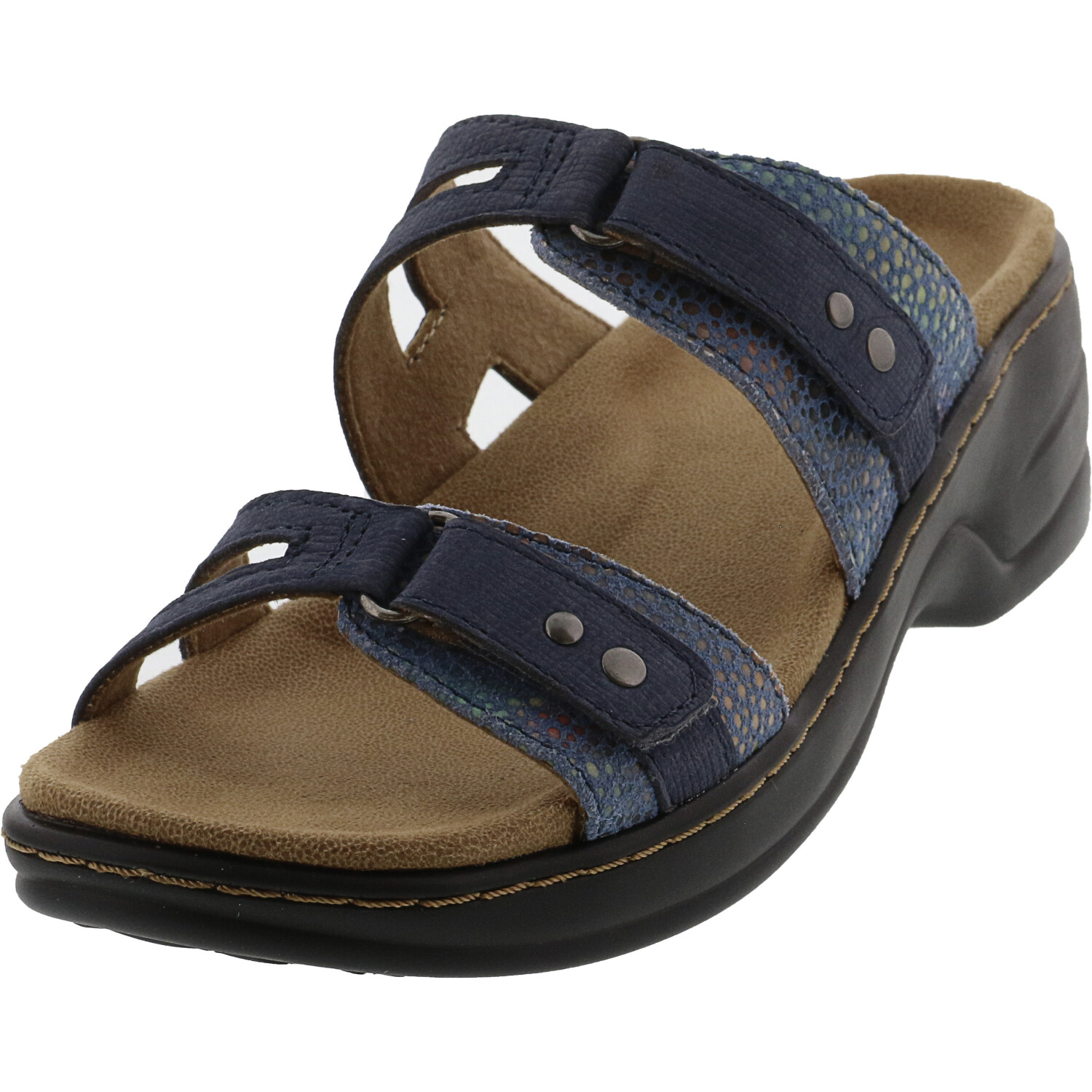Trotters Women's Neiman Blue Leather Sandal - 5M