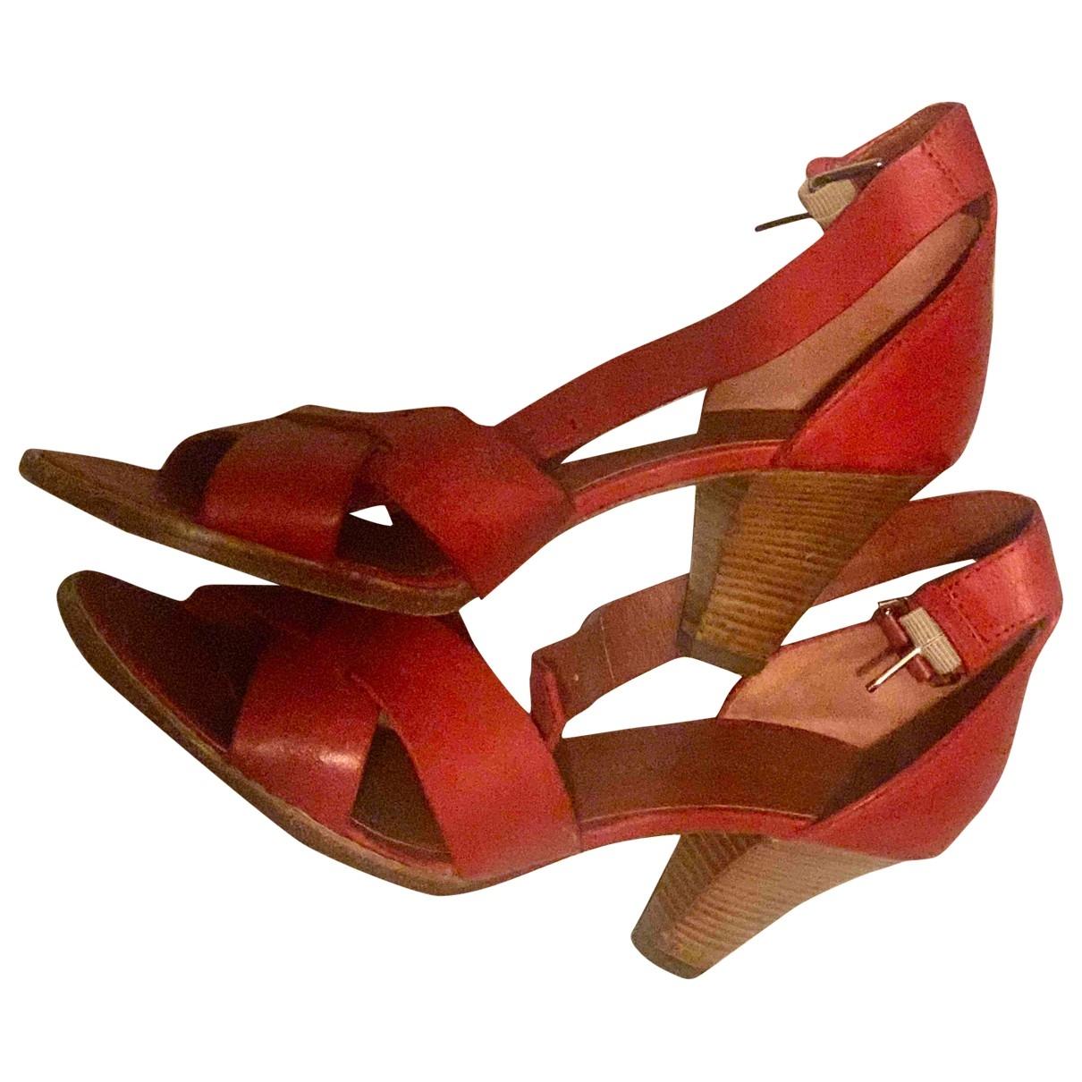 Marc Jacobs - Sandales   pour femme en cuir - rouge
