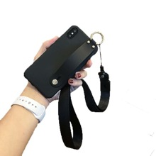 Solid Strap iPhone Case With Lanyard