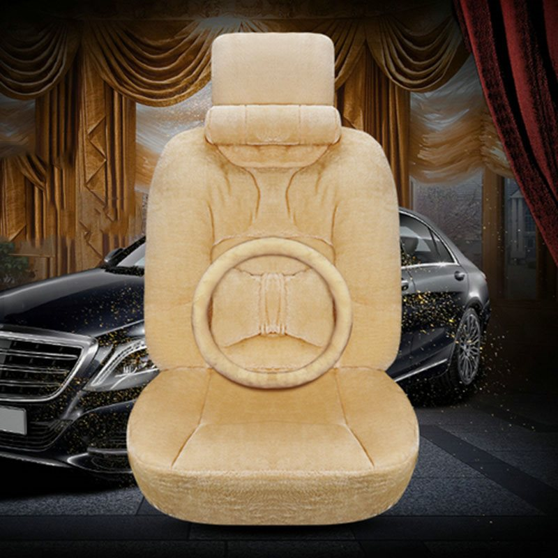 Modern Style Suede Material Winter Universal Single Seat Cover