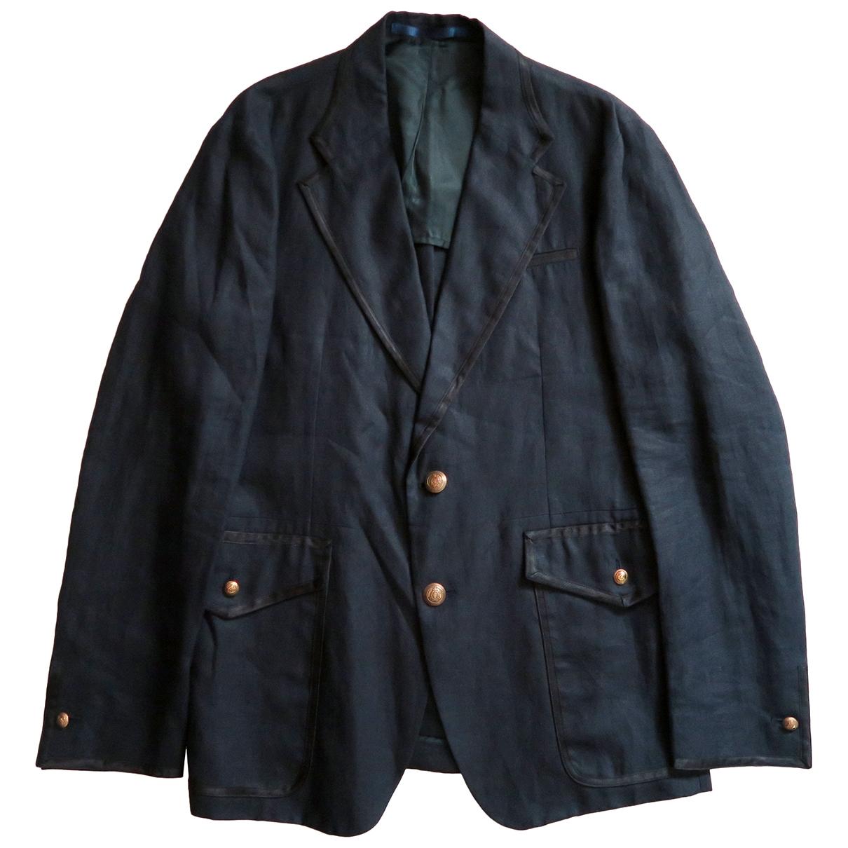 Valentino Garavani \N Navy Cotton jacket  for Men 50 IT