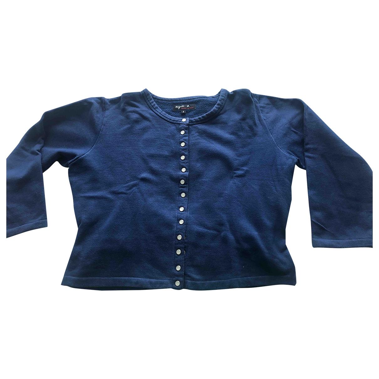 Agnès B. \N Blue Cotton  top for Women 3 0-5