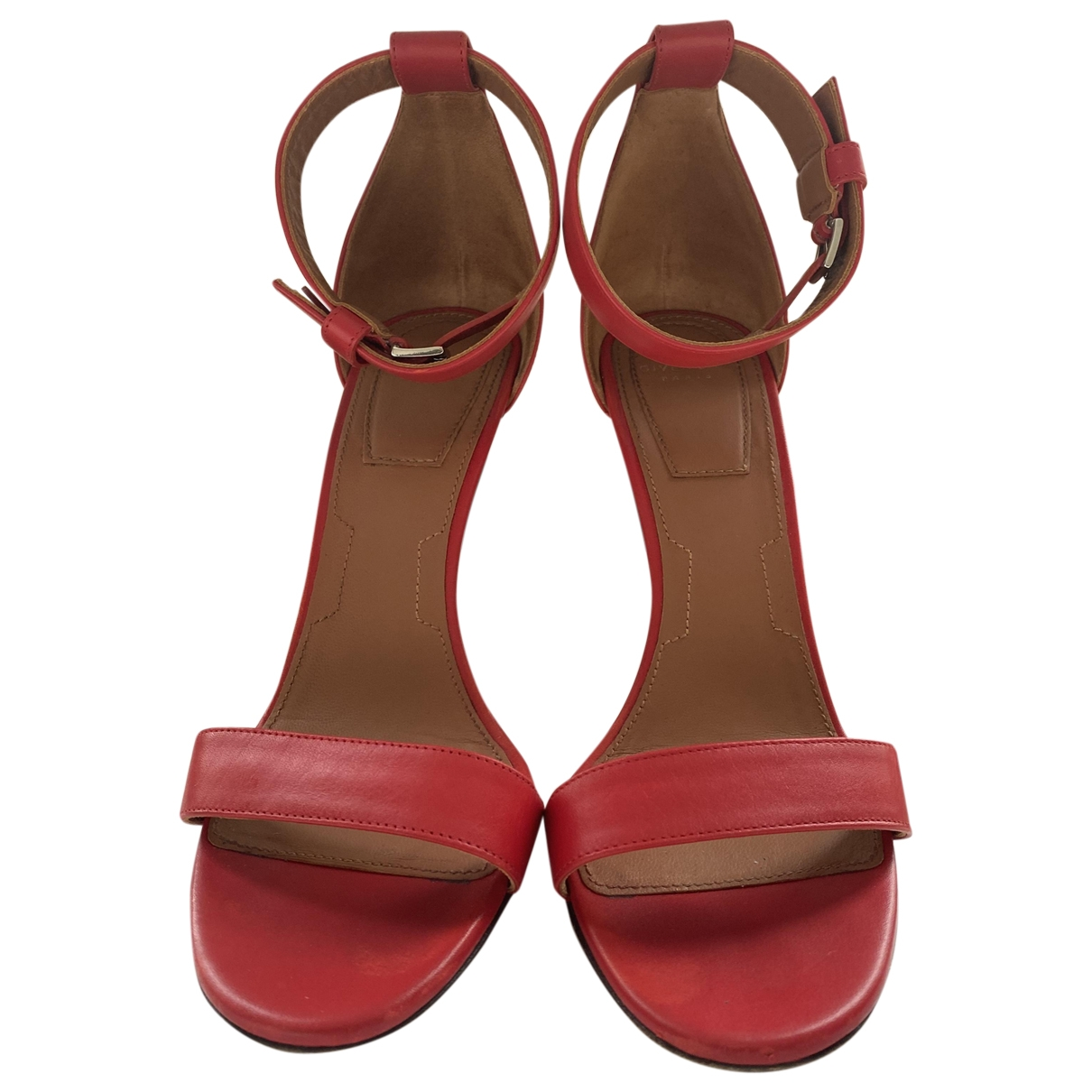 Givenchy \N Red Leather Sandals for Women 37 EU