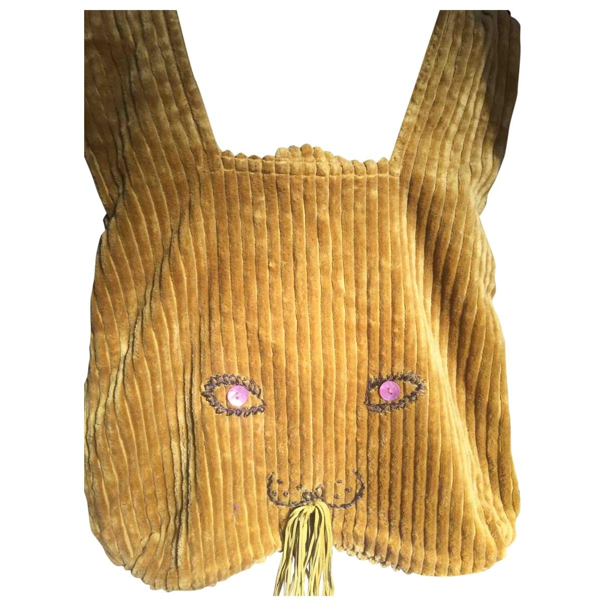 Mina Perhonen \N Camel Velvet backpack for Women \N