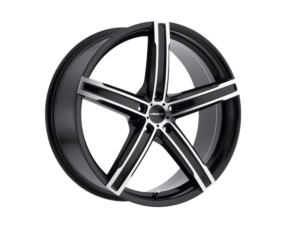 Vision Boost Gloss Black Machined Face Wheel 17x8 5x112 38