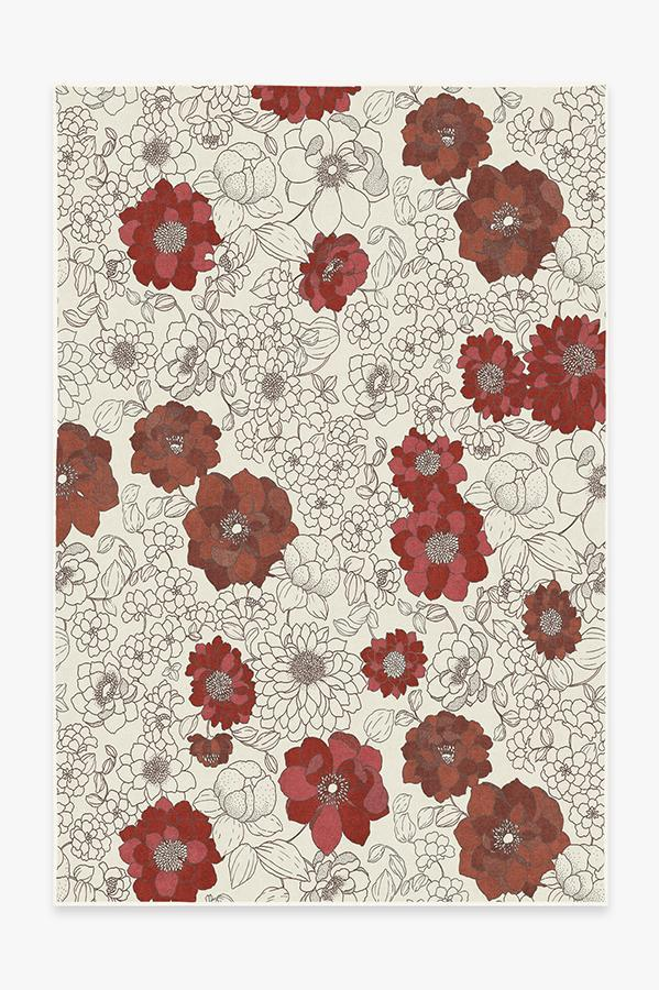 Washable Rug Cover | Floret Ruby Rug | Stain-Resistant | Ruggable | 6x9