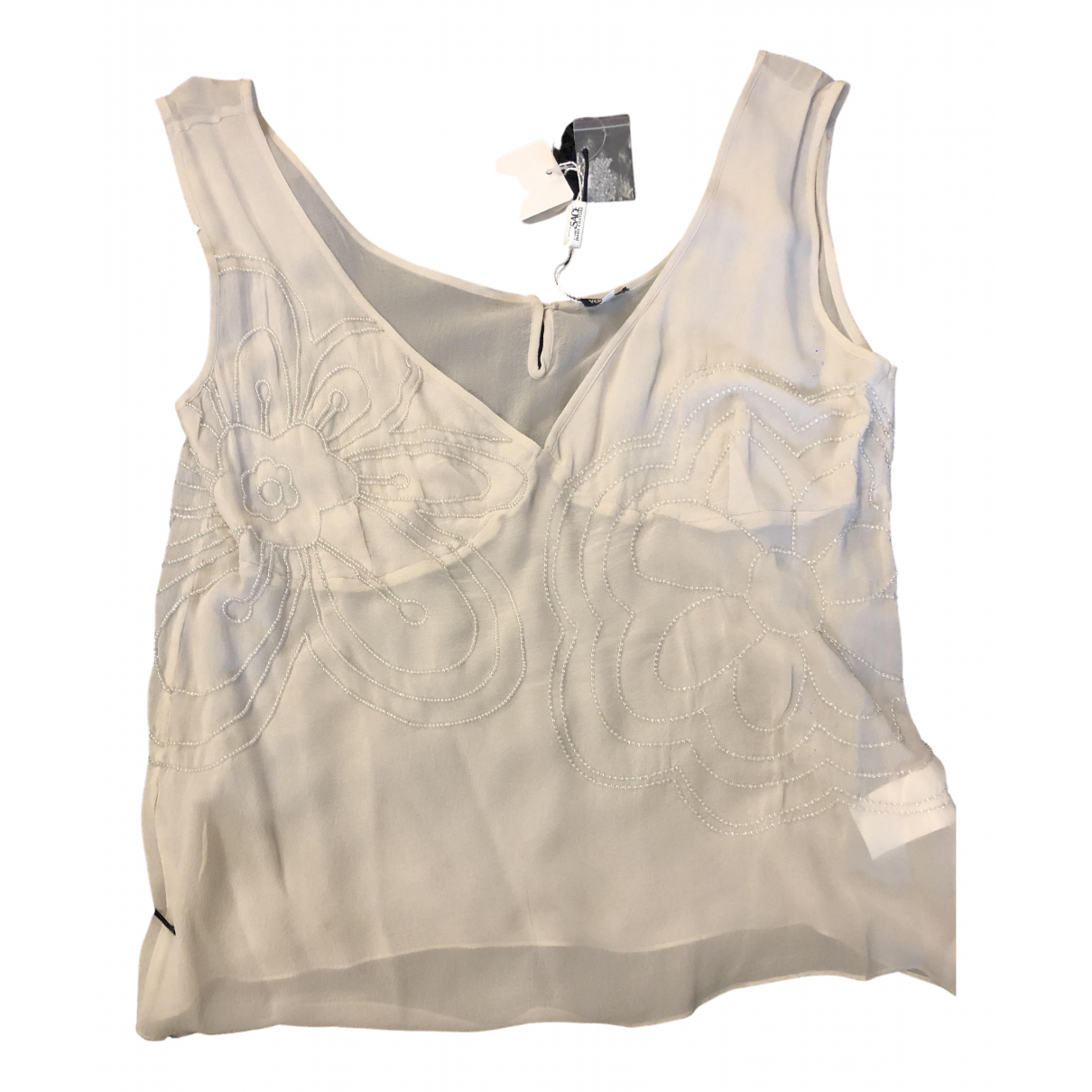 Camiseta sin mangas de Seda Versace