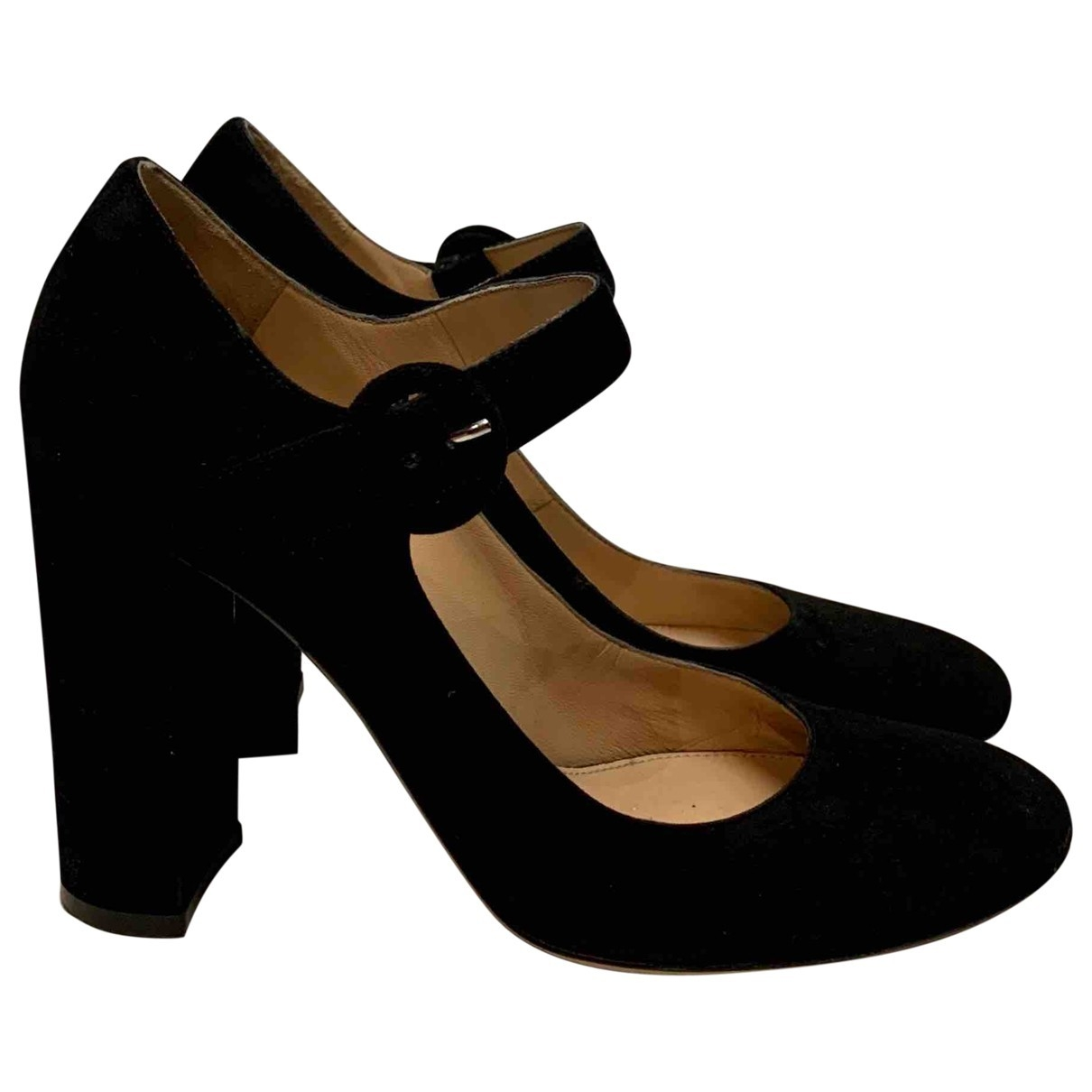 Gianvito Rossi \N Black Suede Heels for Women 38 EU