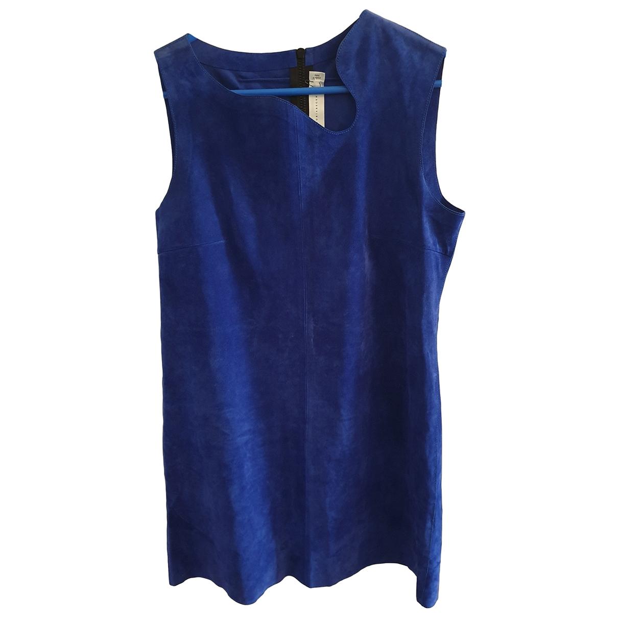 Victoria Beckham \N Kleid in  Blau Veloursleder