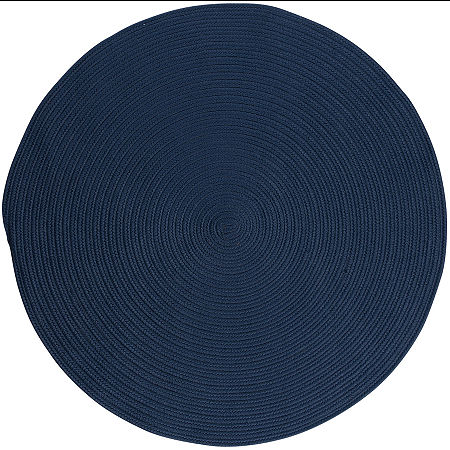Colonial Mills Nantucket Reversible Braided Indoor/Outdoor Round Rug, One Size , Blue