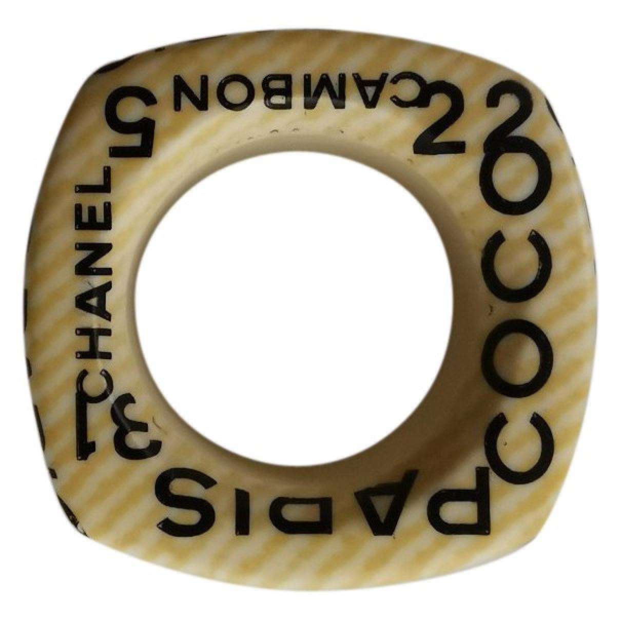 Chanel \N Ecru Ceramic ring for Women 53 MM